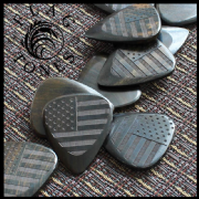 Flag Tones - Stars & Stripes Ebony - 1 Pick | Timber Tones